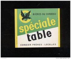 Etiquette De Bière -   Spéciale Table  -  Brasserie Du Corbeau  Cordier Frères  à  Lecelles  ( 59) - Bière