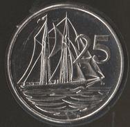 Cayman Islands 25 CENTS 2005 KM# 134 BATEAU Sail Boat - Cayman Islands