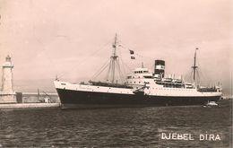 CPA-1955-BATEAU MIXTE-DJEBEL DIRA-Cie NAvigation Mixte-PORT VENDRES-TBE-RARE - Paquebots