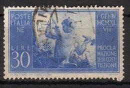 1948 - Proclamazione Della Nuova Costituzione - 30 Lire - Sassone N.579 - 1946-60: Used