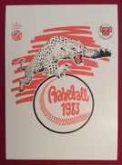 BASEBALL  XVIII CAMPIONATO EUROPEO CARTOLINA N.186  ANNULLO DI LUCCA  SU L. 200 CASTELLI BOBINE ISOLATO 1/6/83 - Baseball