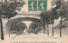 PARIS 20ème - Rue Des Pyrénées - Pont Reliant Les Rues Stendhal Et Ramus - Arrondissement: 20