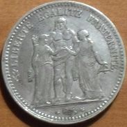 1848 - France - 5 FRANCS, HERCULE, (A), Argent, Silver, KM 756.1, Gad 683 - France