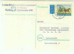 Nr. 160 Schöne EF Portogerecht Postkarte Nach Helmstedt - BRD