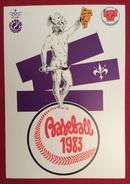 BASEBALL 28 CAMPIONATO EUROPEO CARTOLINA N.421 ANNULLO  FIRENZE GIORNATA INIZIALE  SU L. 200 CASTELLI BOBINE ISOLATO - Baseball