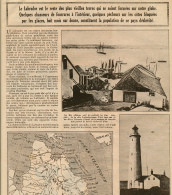 1929: Document, LE LABRADOR, CANADA (3 Pages Illustrées) Greenley Island, Phare De Point-Amour, Ile De Battle-Harbor... - Vieux Papiers
