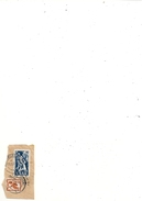 """2 Timbres """" SAAR """" 25F BLEU & 10f PRESSE-BUCHDRUCK MARRON . AFFR LE 25.1.1952. SUR PAPIER - 1947-56 Occupation Alliée"""