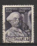 1949 - Bicentenario Nascita Domenico Cimarosa - Sassone N.615 - 6. 1946-.. Repubblica