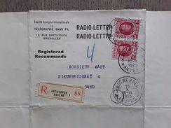 RADIO-LETTER-LETTRE 1925 AANGETEKEND - Stamped Stationery