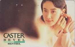 Télécarte Japon / 110-136024 - TABAC - CIGARETTE / CASTER - Femme Girl - Japan Phonecard - ZIGARETTE Telefonkarte - 185 - Japon
