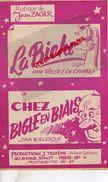 PARTITION MUSICALE-LA BICHE VALSE DE CHASSE- JEAN ZAGER-CHEZ BIGLE EN BIAIS- J. TRUFEME 40 AV. JUNOT PARIS MONTMARTRE - Partitions Musicales Anciennes