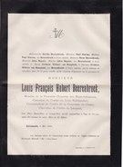 RUREMONDE Louis BEERENBROEK Chevalier Ordre Du Lion Néerlandais Etats-généraux Nederlanden 79 Ans 1884 Doodsbrief STORMS - Obituary Notices