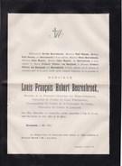 RUREMONDE Louis BEERENBROEK Chevalier Ordre Du Lion Néerlandais Etats-généraux Nederlanden 79 Ans 1884 Doodsbrief STORMS - Todesanzeige