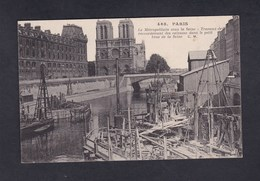 Vente Immediate  Paris Metropolitain Sous La Seine Travaux De Raccordement Des Caissons ( Metro Cathedrale Notre Dame ) - Metro, Stations