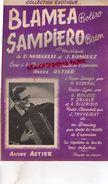 17-SAINTES-PARTITION MUSICALE-BLAMEA BOLERO-SAMPIERO BAION-MARGELLI-J.RAMIREZ-ANDRE ASTIER A RADIO LIMOGES REBERAC- - Partitions Musicales Anciennes