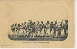 AFRIQUE - ETHIOPIE - ABYSSINIE - HARRAR - Soldats Abyssins En Uniforme - Ethiopië