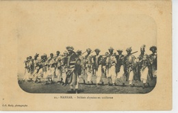 AFRIQUE - ETHIOPIE - ABYSSINIE - HARRAR - Soldats Abyssins En Uniforme - Etiopía