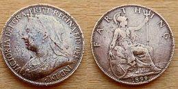 DB-212Médaille Ancienne (1899) Victotoria Dei Gra Fritt Regina Fit Def à Déterminer - Coppers