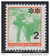 9. Yugoslavia, 1992, Definitive - Postal Service 2 Din, MNH (**) Michel 2565 - 1992-2003 Federal Republic Of Yugoslavia