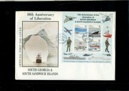 SOUTH GEORGIA-SANDWICH ISLANDS- BUONA QUALITA' - LOTTO DI 5 BUSTE - Briefmarken