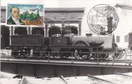 España Sobre Nº 2713 Tarjeta - Trenes