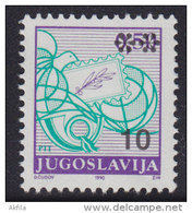 5. Yugoslavia, 1992, Definitive - Postal Service 10 Din, MNH (**) Michel 2555 - 1992-2003 Federal Republic Of Yugoslavia