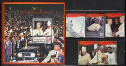 TRINIDAD - 2006 -   N°902/6 +  BLOC N° 73  **  JEAN-PAUL II - Popes