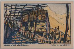 Nella Valle Verzasca - Pizzo Di Vogorno, Pergola - Künstlerkarte Ernst Geiger - TI Tessin