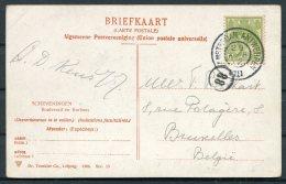 1912 Netherlands Scheveningen Boulevard En Kurhaus Postcard. Amsterdam - Antwerpen TPO - Bruxelles. - Period 1891-1948 (Wilhelmina)