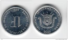 Burundi 1 Franc 2003 UNC Km#19 - Burundi