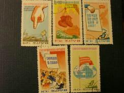 Korea Nord 1973 Propaganda Mi 1184-88 CTO - Corée Du Nord