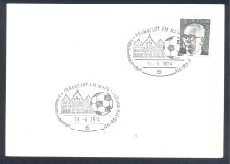 Germany 1974 Card; Football Soccer Fussball Calcio; FIFA World Cup WM Weltmisterschaft Frankfurt - Coppa Del Mondo