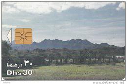U.A.E.(chip) - Palms & Mountains, Chip GEM1A, Used - Mountains
