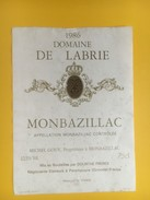 4686 - Domaine De Labrie 1986 Monbazillac - Bordeaux