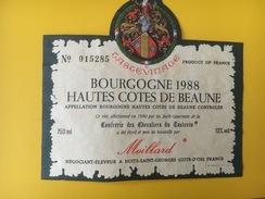 4694 - Bourgogne 1988 Hautes Côtes De Beaune Moillard - Bourgogne