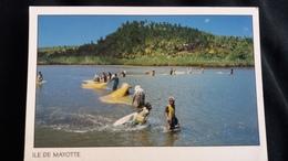 CPM ILE DE MAYOTTE  PECHE AU DJARIFA BAIE DE CHICONI - Mayotte
