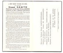 Devotie - Devotion - Ernest Samyn - Bredene 1883 - Oostende 1956 - Anthone - Goethaels - Décès