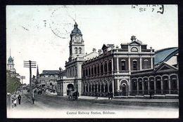 AS900) Brisbane, Queensland - Central Railway Station - Posted 1908 - Brisbane