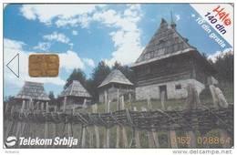 "SERBIA - Old Village ""Sirogojno"", Landscape, Telecom Sbrija Telecard, 04/01, Used - Landschaften"