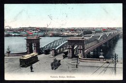 AS902) Brisbane, Queensland -  Victoria Bridge - Posted 1908 - Brisbane