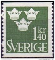 ZWEDEN 1939-1969 1.40kr Drie Kronen Groen PF-MNH PF-MNH - Nuevos