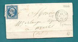Corrèze - Beaulieu Sur Menoire. GC + CàD Type 15B - 1849-1876: Classic Period
