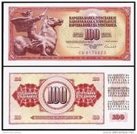 Yugoslavia 100 DINARA 1986 P 90c UNC YOUGOSLAVIE - Yugoslavia