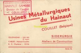 CARNET 20 CPA USINES METALLURGIQUES DU HAINAUT COUILLET SIDERURGIE ATELIERS DE CONSTRUCTION - Charleroi