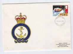 1985 Milton Keynes GB FDC LIFEBOAT Stamps Cover Illus RNLI  ANCHOR Emblem Ship - FDC