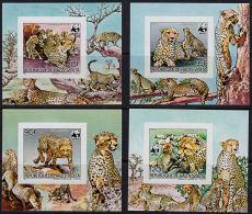 O0053 UPPER VOLTA 1984, SG 723-6 WWF Cheetah, IMPERF MNH - Non Classificati