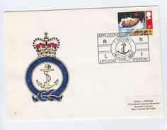 1985 Appledore Lifeboat Station  GB FDC LIFEBOAT Stamps Cover Illus RNLI  ANCHOR Emblem Ship - FDC