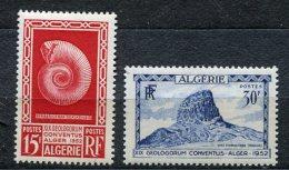 3744  - ALGERIE  N° 297/8 **  19éme Congrès De Géologie à Alger       1952     SUPERBE - Argelia (1924-1962)