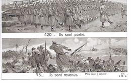 MILITARIA (14-18) BELLE CPA PATRIOTIQUE 420 : ILS SONT PARTIS./ ILS SONT REVENUS A 75.... - Oorlog 1914-18