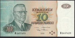 Finland 10 Markka 1980 P111 (sign. Alenius&Mäkinen) AUNC - Finlandia